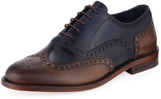 Jared Lang Men's Wing-Tip Lace-Up Dress Shoes