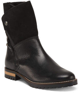 Made In Italy Shearling Lined Booties