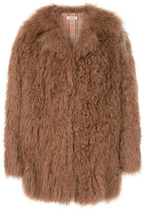 Yves Salomon Meteo oversized fur coat