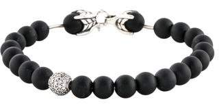 David Yurman Onyx & Diamond Spiritual Beads Bracelet