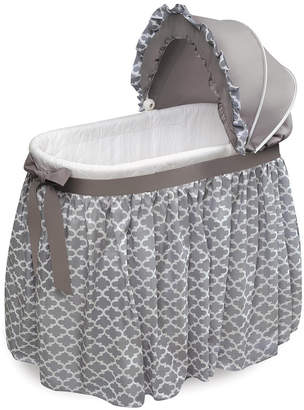 Badger Basket Wishes Oval Bassinet - Full Length Skirt