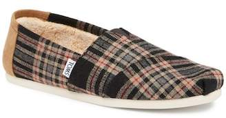 Toms Holiday Plaid Faux Shearling Lined Slip-On Sneaker