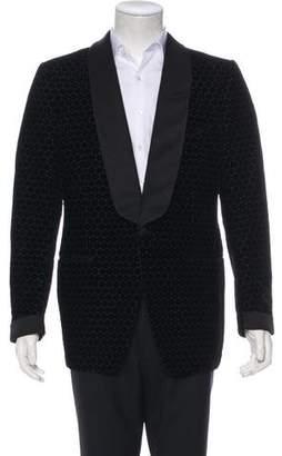Tom Ford Grosgrain-Trimmed Silk-Blend Velour Tuxedo Blazer