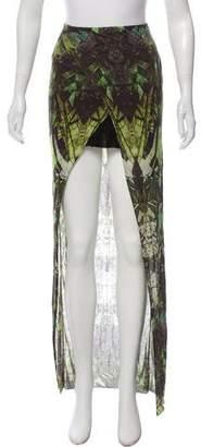 Helmut Lang Print High-Low Skirt