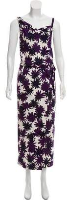 Diane von Furstenberg Sleeveless Printed Silk Maxi Dress