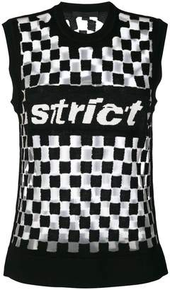 Alexander Wang strict knitted top