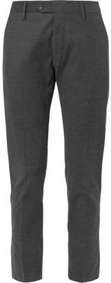 NN07 Theo Slim-Fit Tapered Herringbone Stretch Cotton-Blend Trousers