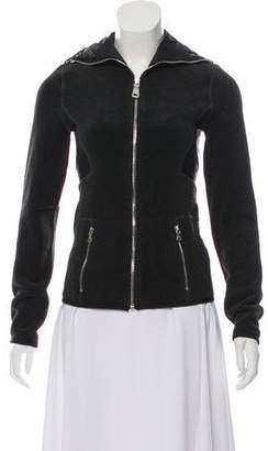 Prada Sport Zip-Up Hooded Fleece Jacket