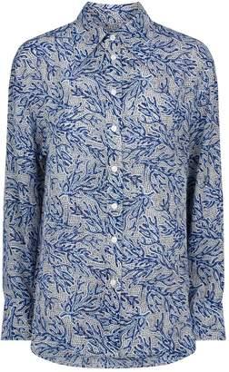 Michael Kors Silk Coral Mosaic Shirt