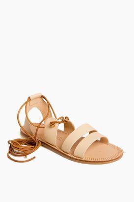 Sessun Delphes Athena Laced Sandals $200 thestylecure.com