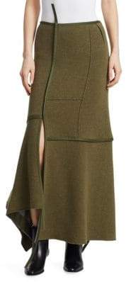 3.1 Phillip Lim Asymmetrical Seamed Patch Maxi Skirt