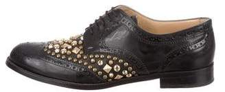 Dolce & Gabbana Studded Leather Brogues