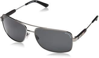 Burberry Men's BE3074-100387-63 Rectangle Sunglasses