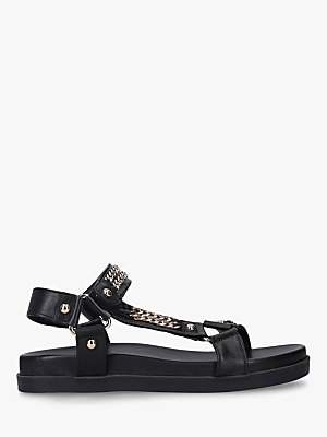 Carvela Kostello Chain Leather Sandals, Black
