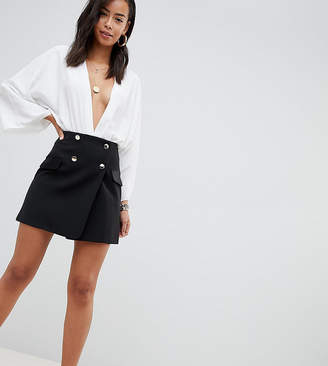 Asos Tall DESIGN Tall double breasted tux mini skirt with satin pockets