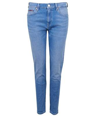Tommy Jeans High Rise Slim Fit Izzy Cropped Jeans Colour: Azure, Size: