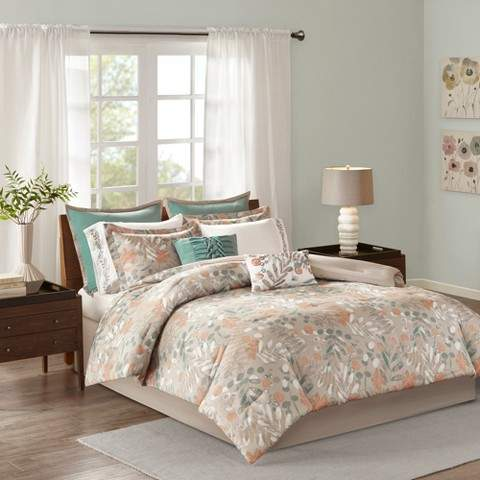 Spice Noel Cotton Sateen Comforter Set 10pc