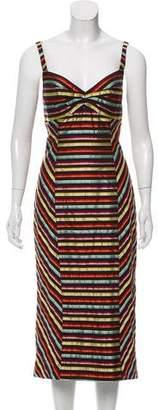L'Wren Scott Striped Midi Dress w/ Tags