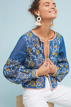MISA Embroidered Chambray Jacket