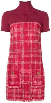 Elisabetta Franchi check printed dress