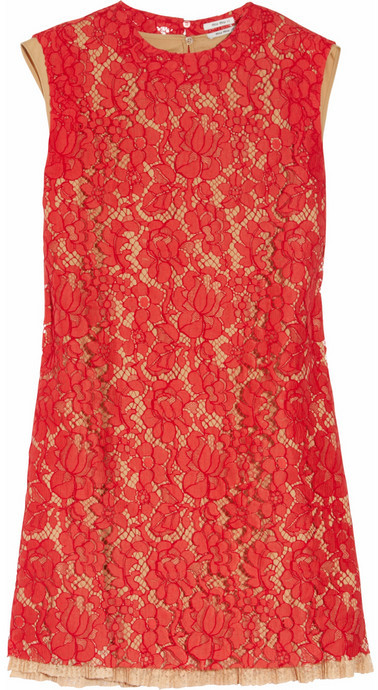 Miu Miu Floral lace A-line dress