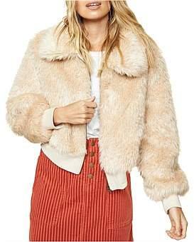 MinkPink Sherry Fur Bomber