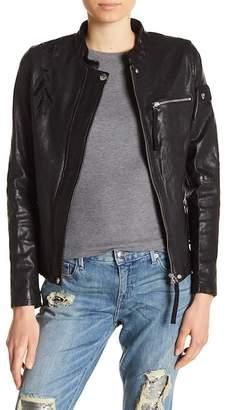 True Religion Eagle Embellished Leather Jacket