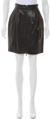 Jason Wu Leather Mini Skirt