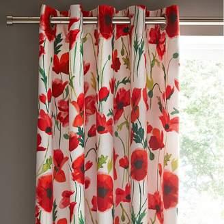 Kaleidoscope Poppy Pair of Eyelet Lined Curtains