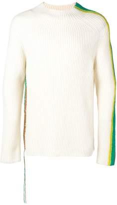 Paura side stripped knit sweater