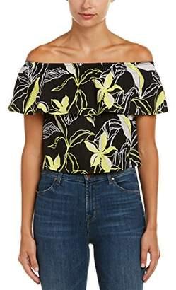 Splendid Women's Tropical Floral Off The Shoulder