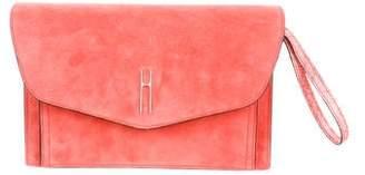 Hayward Suede Envelope Clutch
