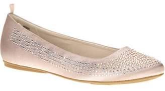 George Girl's White Sparkle Embellished Ballet Flat