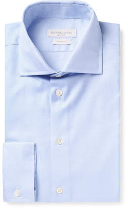 Richard James Light-Blue Cutaway-Collar Cotton Shirt