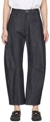 Y's Ys Indigo U-Gusset Wide Jeans