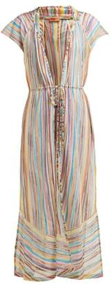 Missoni Mare - Lurex Striped Knitted Mesh Cover Up - Womens - Multi