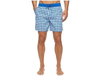 Mr.Swim Mr. Swim Star Tile Printed Chuck Boardshorts Men's Swimwear