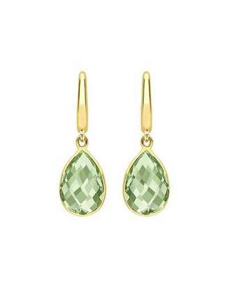 Kiki McDonough Kiki Classic Pear Drop Earrings in Green Amethyst & 18K Gold