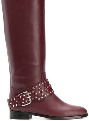 RED Valentino studded buckle boots