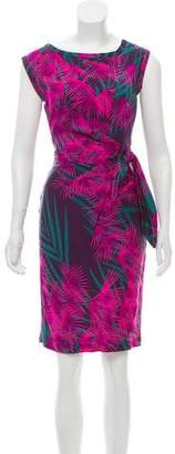 Diane von Furstenberg Sleeveless Silk Printed Dress