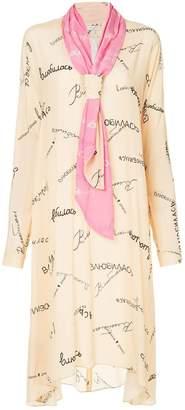 Natasha Zinko printed scarf neck dress