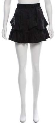 IRO Silk Layered Mini Skirt