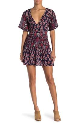 Raga Infinite Nights Paisley Faux Wrap Dress