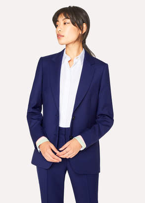 Paul Smith A Suit To Travel In - Women's Indigo Two-Button Wool Blazer