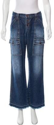 Joie Mid-Rise Wide-Leg Jeans
