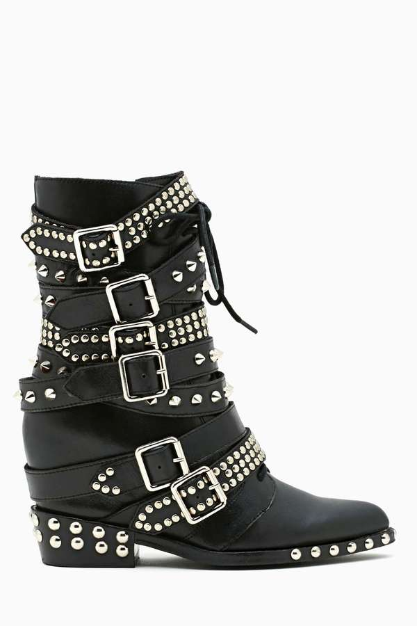 Nasty Gal Jeffrey Campbell Draco Strapped Stud Boot