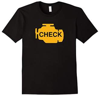 Check Engine Light Funny Automotive Mechanic T-Shirt