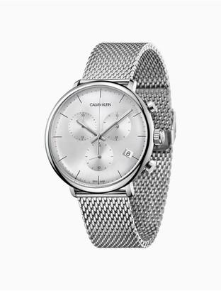 Calvin Klein High Noon Silver Chronograph Watch