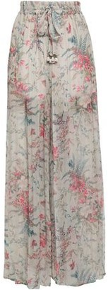 Zimmermann Floral-print Silk-georgette Wide-leg Pants