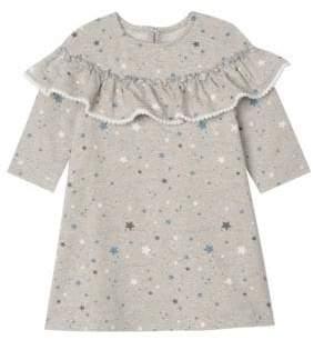 Little Girl's Star-Print Ruffle Dress